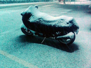 Snow-Covered Hayabusa