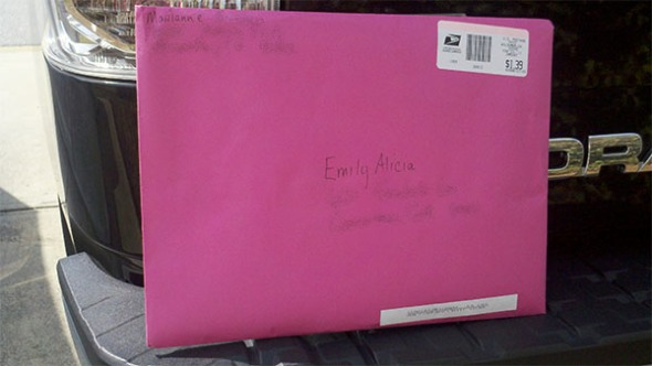 The Long Awaited Envelope in Hot Pink
