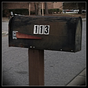 My competition number on a mailbox: 113